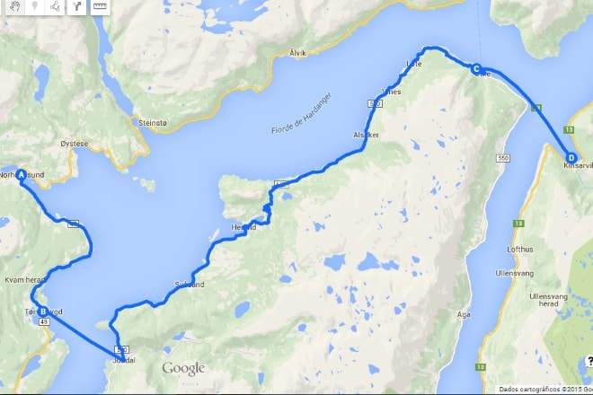 Hardangerfjord-map