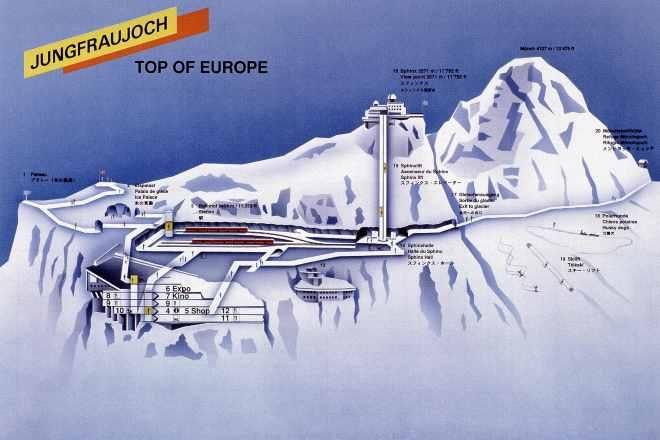 jungfraujoch sphinx station map