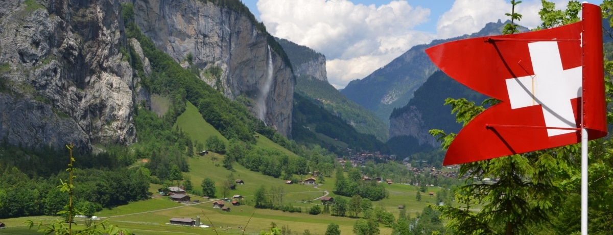 Lauterbrunnen e suas cachoeiras