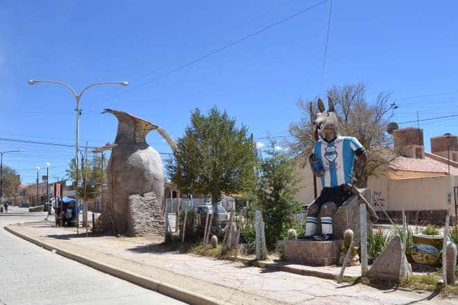 """""""El Lobo"""" é símbolo doGimnasia y Esgrima de Jujuy."""