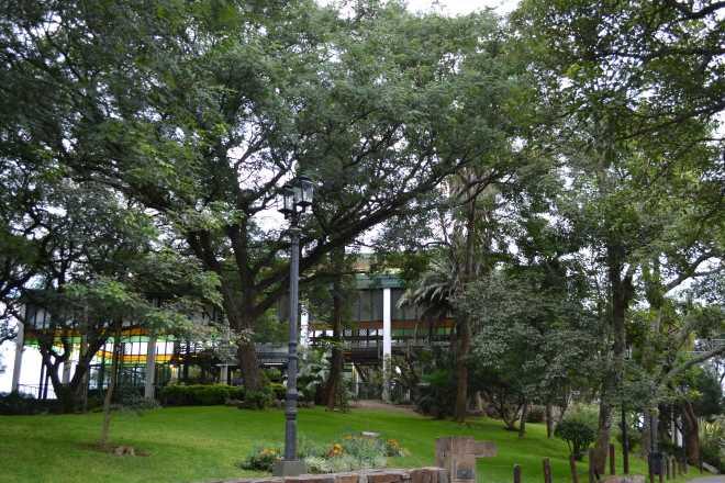 Estação do teleférico ao Cerro San Bernardo