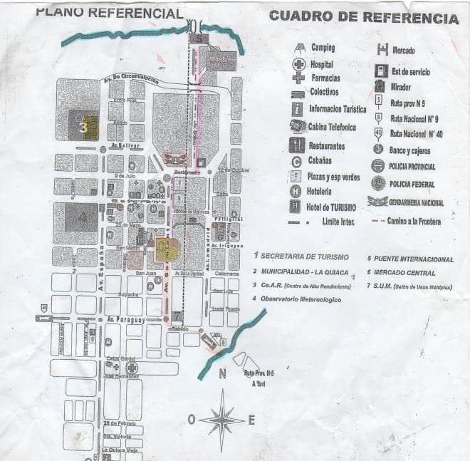 Mapa La Quiaca